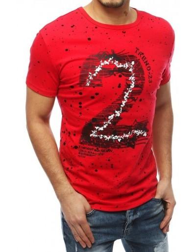 Červené pánské tričko RX3908 s potiskem