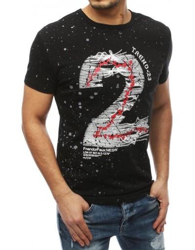 Černé pánské tričko RX3909 s potiskem