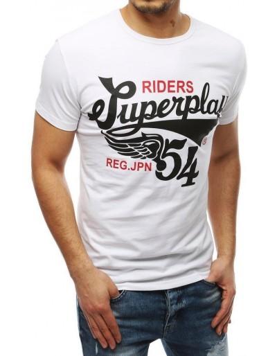 Bílé pánské tričko RX3913 s potiskem
