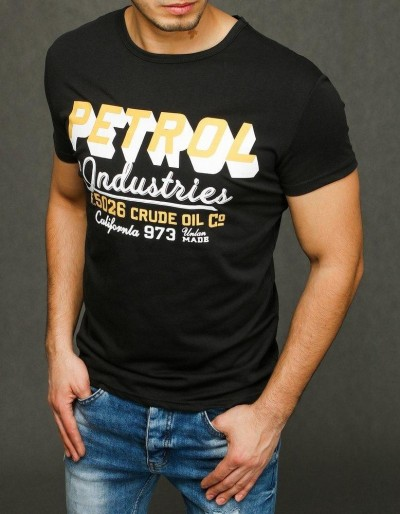 Černé pánské tričko RX3923 s potiskem