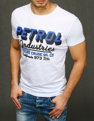 Bílé pánské tričko RX3924 s potiskem