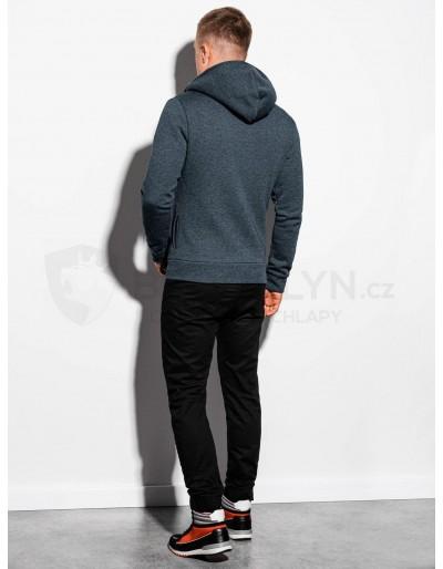 Men's zip-up hoodie PRIMO - dark grey//red