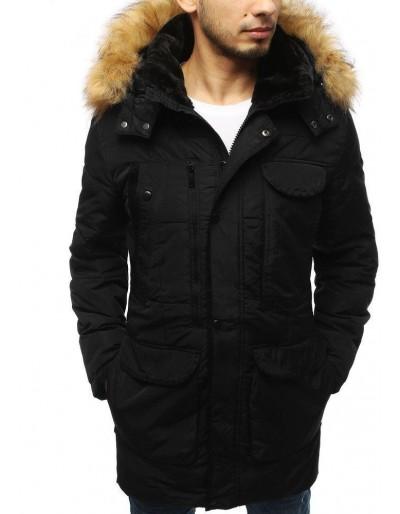 Pánská prošívaná zimní bunda černá TX3152