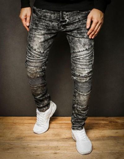 Šedé pánské džínové kalhoty UX2311
