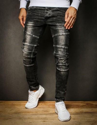 Pánské šedé džínové kalhoty UX2314
