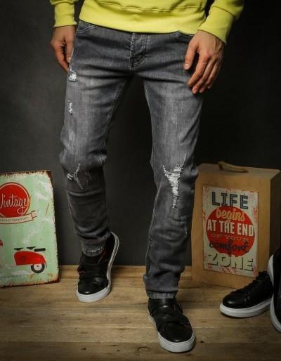 Pánské šedé džínové kalhoty UX2325