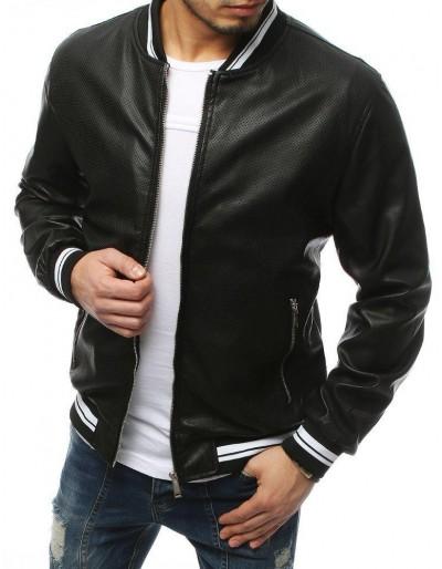 Černá pánská kožená bunda TX3155