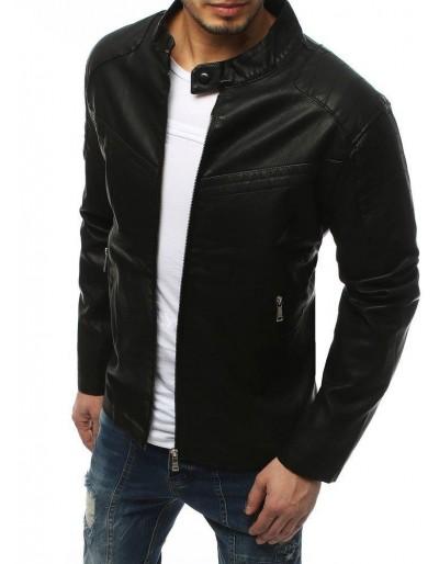 Černá pánská kožená bunda TX3157