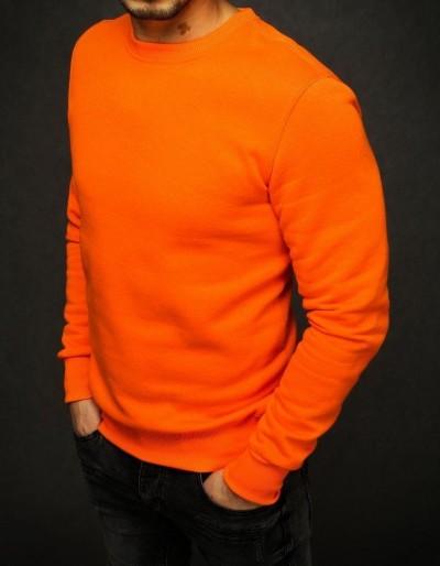 Bluza męska gładka pomarańczowa BX4387