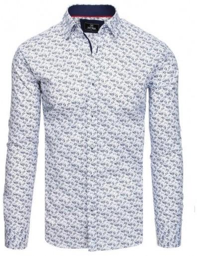 PREMIUM pánská košile s dlouhým rukávem, bílá DX1815