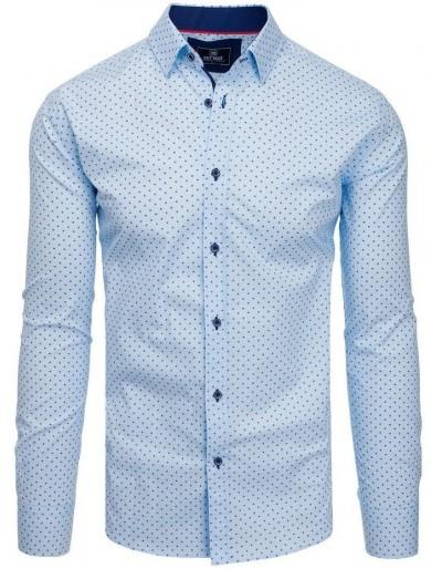 PREMIUM pánská košile s dlouhým rukávem, nebesky modrá DX1816