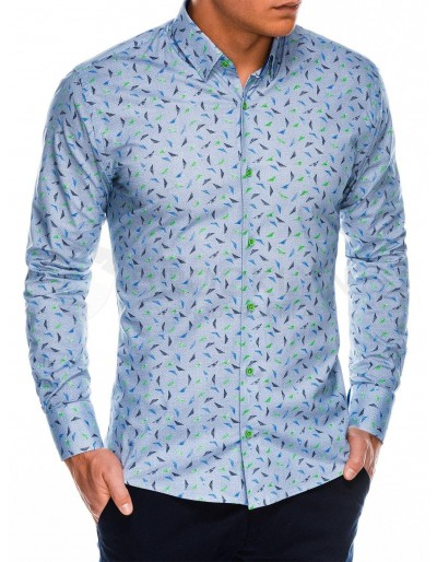 Men's shirt with long sleeves K492 - navy
