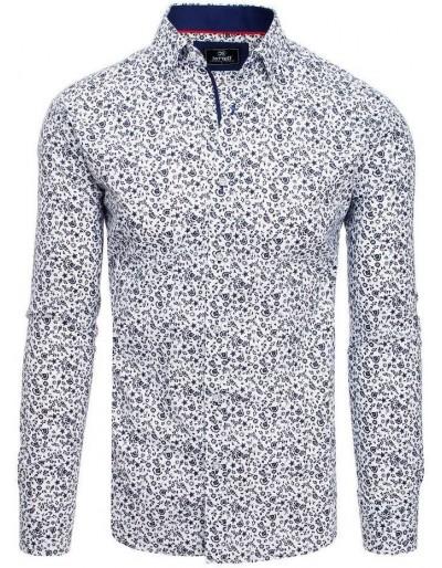PREMIUM pánská košile s dlouhým rukávem, bílá DX1818