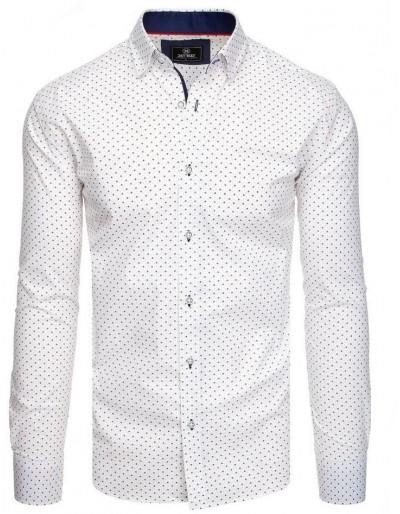 PREMIUM pánská košile s dlouhým rukávem, bílá DX1819