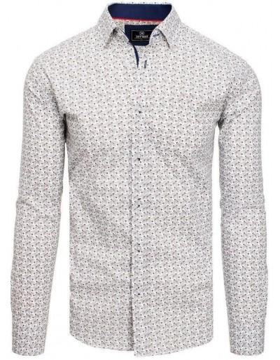 PREMIUM pánská košile s dlouhým rukávem, bílá DX1822