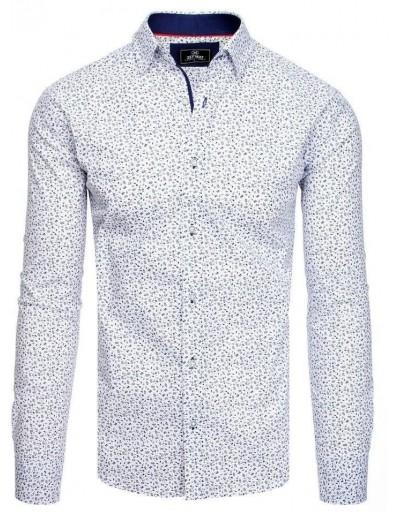 PREMIUM pánská košile s dlouhým rukávem, bílá DX1824