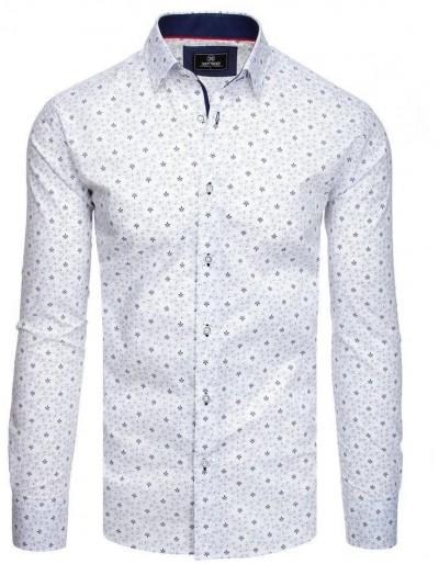 PREMIUM pánská košile s dlouhým rukávem, bílá DX1825