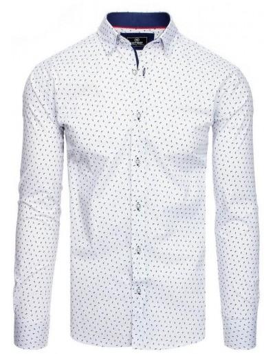 PREMIUM pánská košile s dlouhým rukávem, bílá DX1828