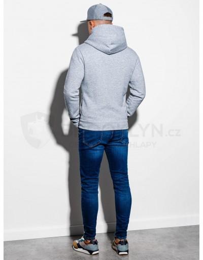 Men's zip-up hoodie PRIMO - grey/blue