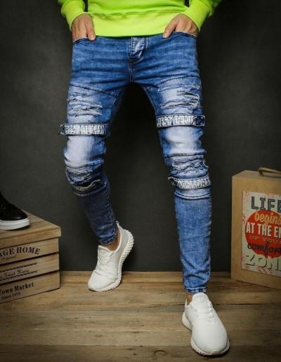 Pánské modré džínové kalhoty UX2336
