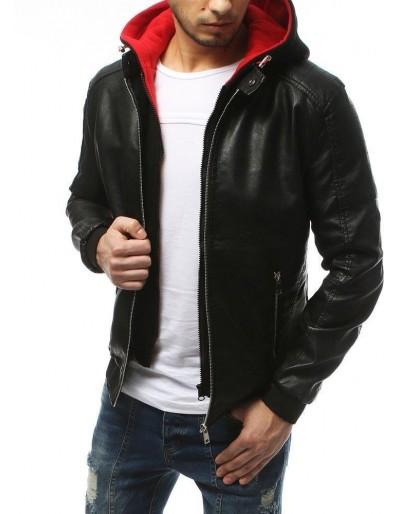 Černá pánská kožená bunda TX3174