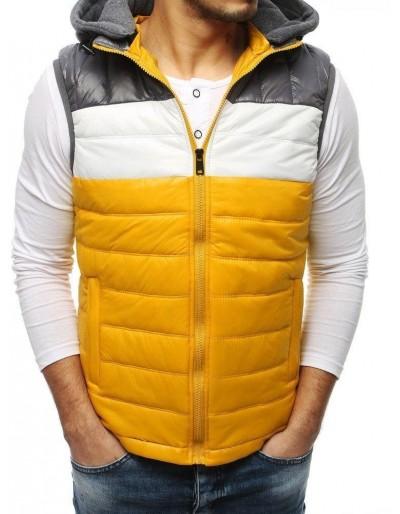 Žlutá pánská prošívaná vesta TX3196