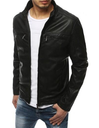 Černá pánská kožená bunda TX3201