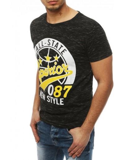 Černé pánské tričko RX3951 s potiskem