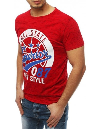 Pánské tričko s červeným potiskem RX3954