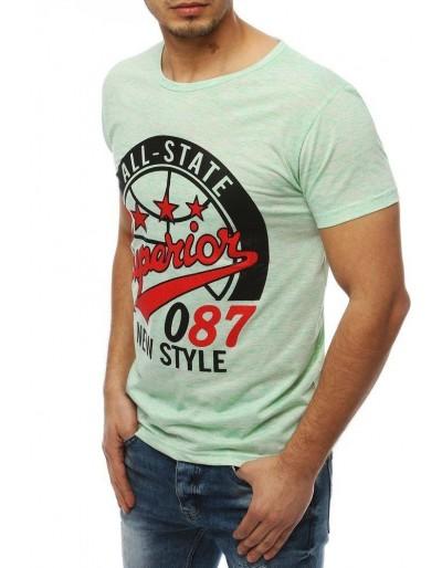 Zelené pánské tričko s potiskem RX3955