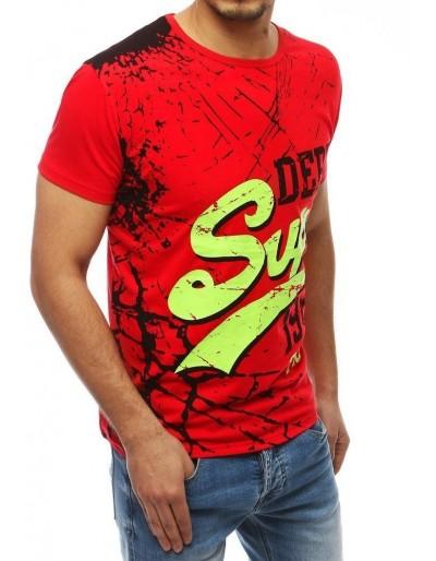 Pánské tričko s červeným potiskem RX3962