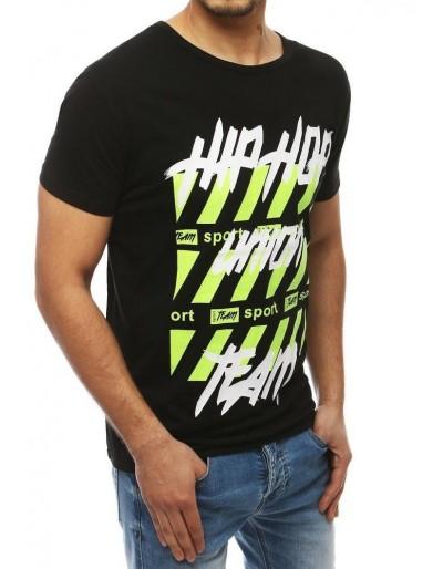 Černé pánské tričko RX3965 s potiskem