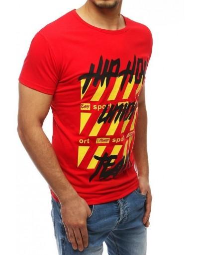 Červené pánské tričko RX3966 s potiskem
