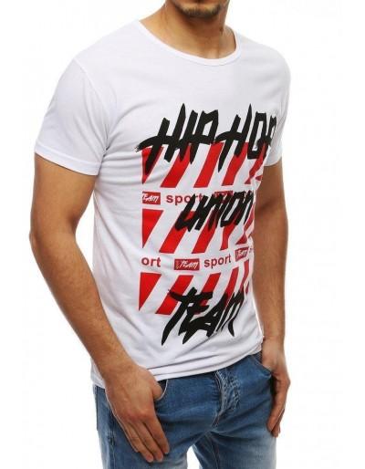 Pánské tričko s bílým potiskem RX3967