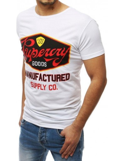 Bílé pánské tričko RX3971