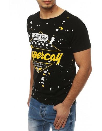 Černé pánské tričko RX3976 s potiskem