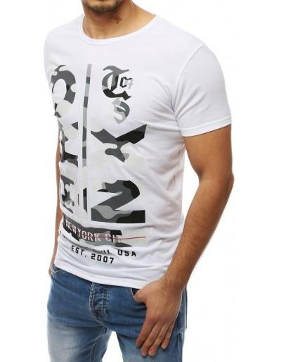 Pánské tričko s bílým potiskem RX3977