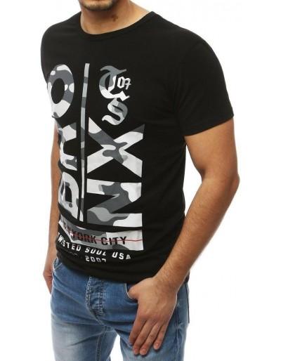 Černé pánské tričko RX3979 s potiskem