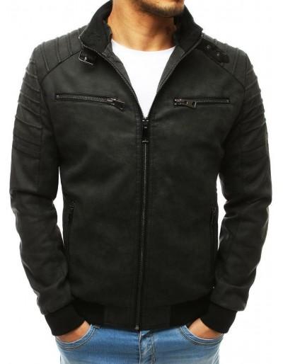 Černá pánská kožená bunda TX3215
