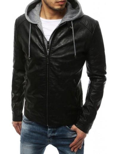 Černá pánská kožená bunda TX3216