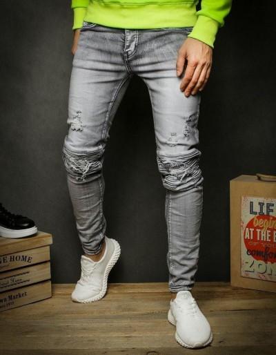 Šedé pánské džínové kalhoty UX2345