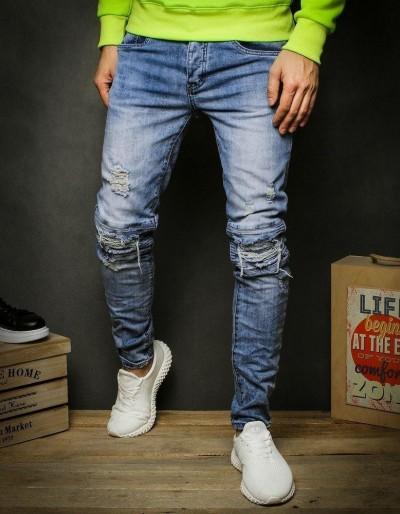Pánské modré džínové kalhoty UX2348