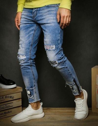 Pánské modré džínové kalhoty UX2349