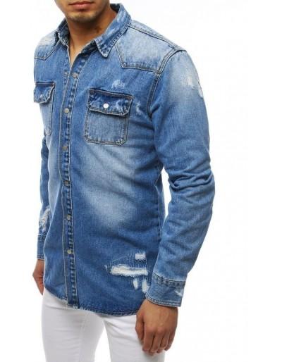 Pánská riflová košile modrá DX1831