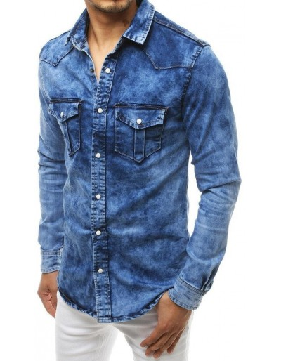 Pánská riflová košile modrá DX1833