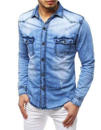 Pánská riflová modrá košile DX1834