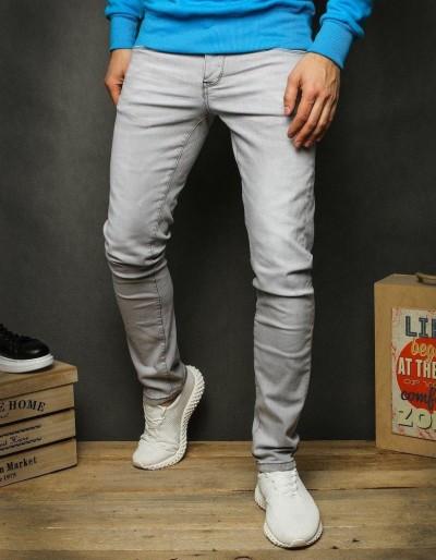 Světle šedé pánské džínové kalhoty UX2355