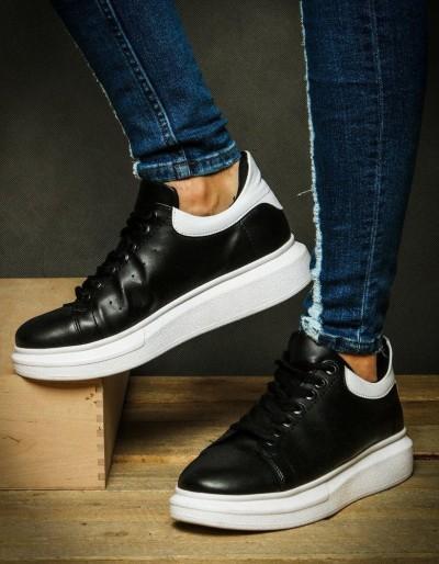 Sneakersy męskie biało-czarne ZX0120