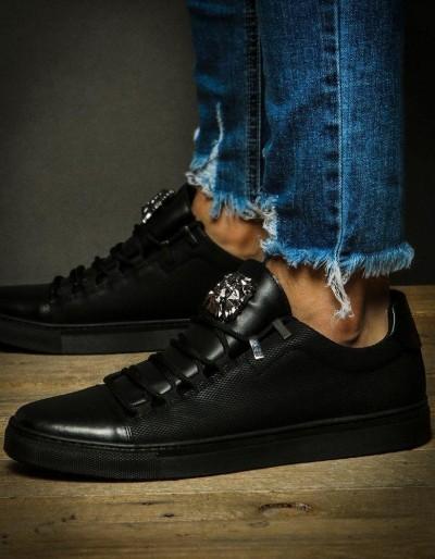 Sneakersy męskie czarne ZX0127