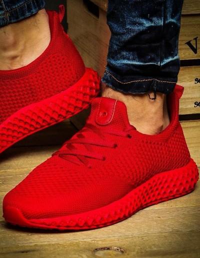Sneakersy męskie czerwone ZX0133